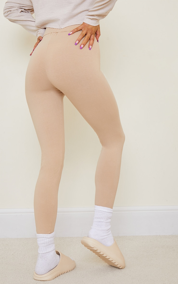 Stone Washed Effect Stretch Leggings 3