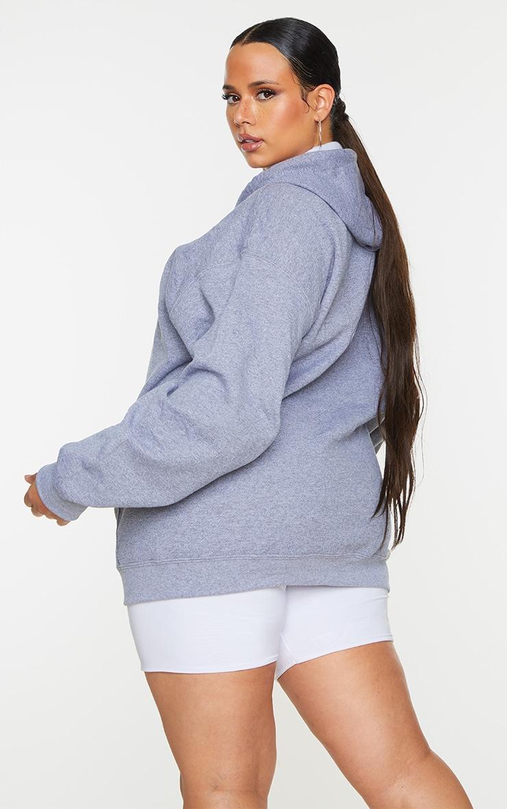 Plus Grey Fleece Zip Up Hoodie 2