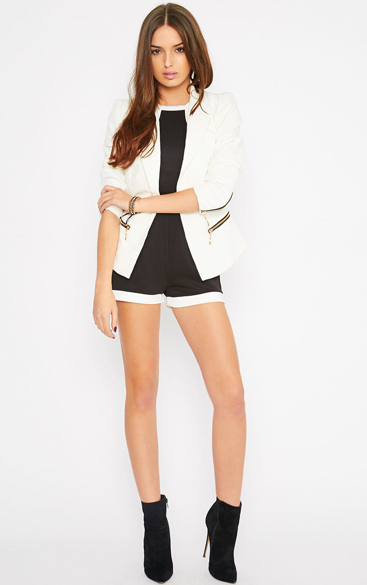 Jennifer Black Racer Front Playsuit  3