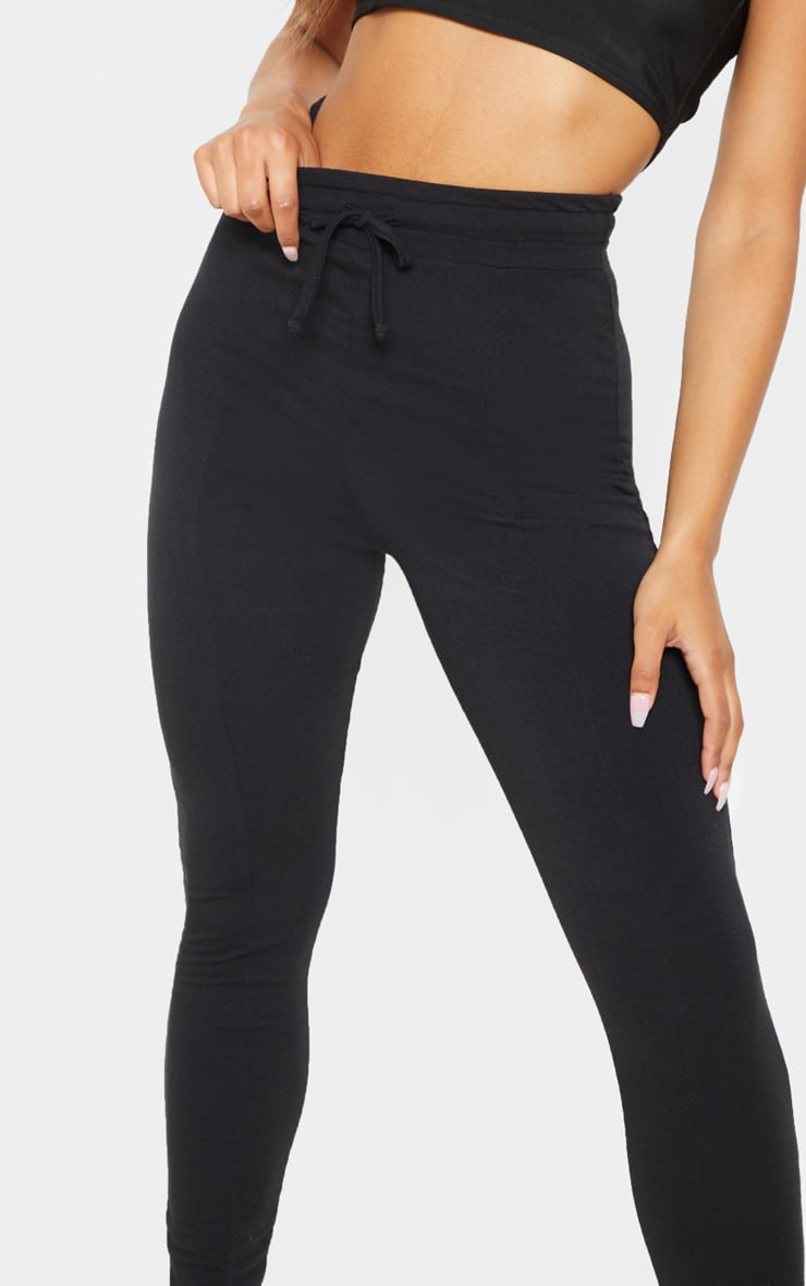 Black Seam Detail Sweat Legging 5