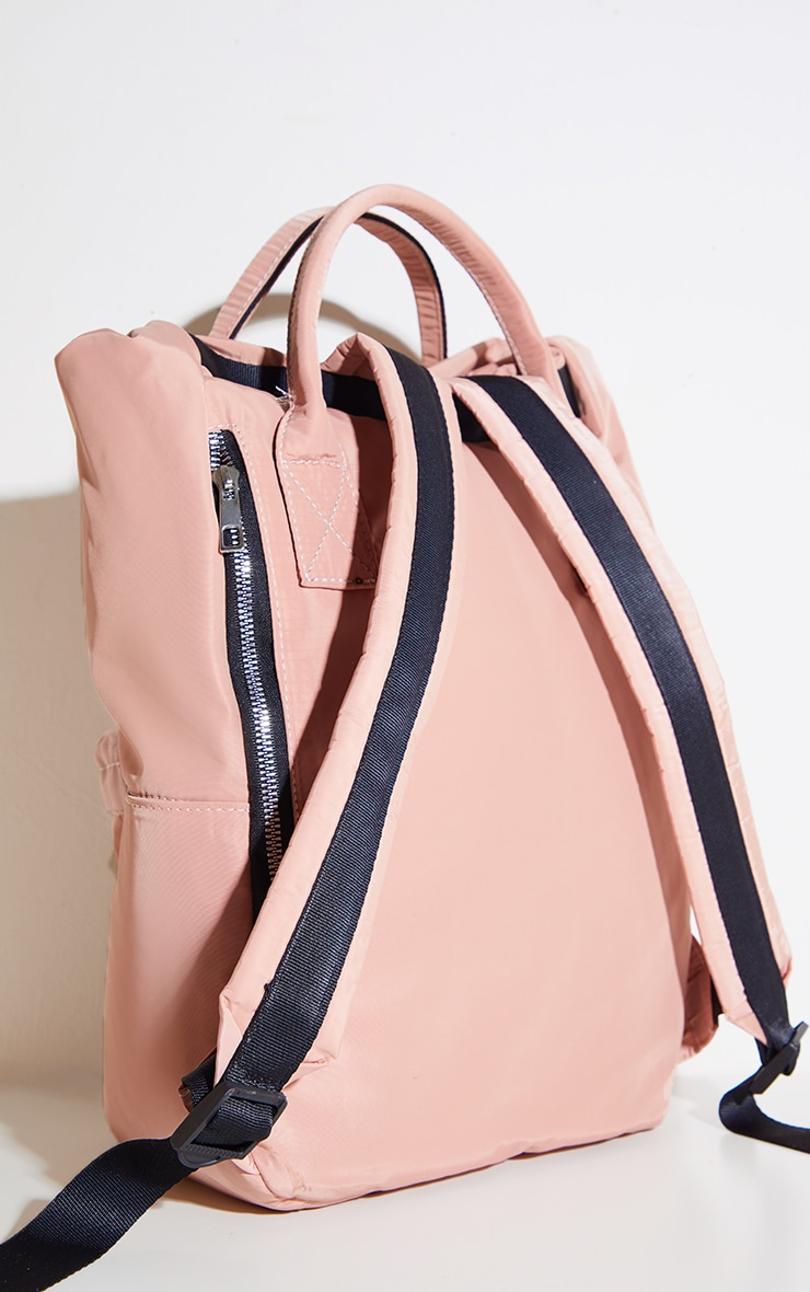PRETTYLITTLETHING Pink Multi Pocket With Handle Backpack 3
