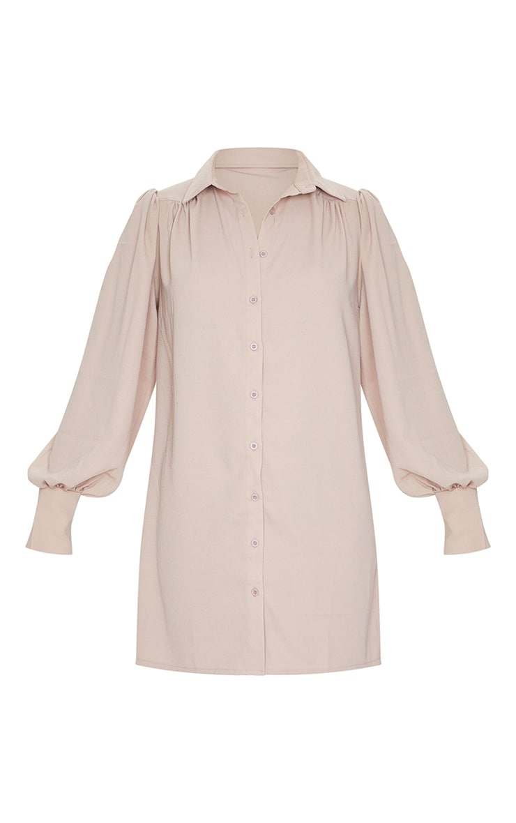 Stone Chiffon Oversized Extreme Cuff Shirt Dress 5