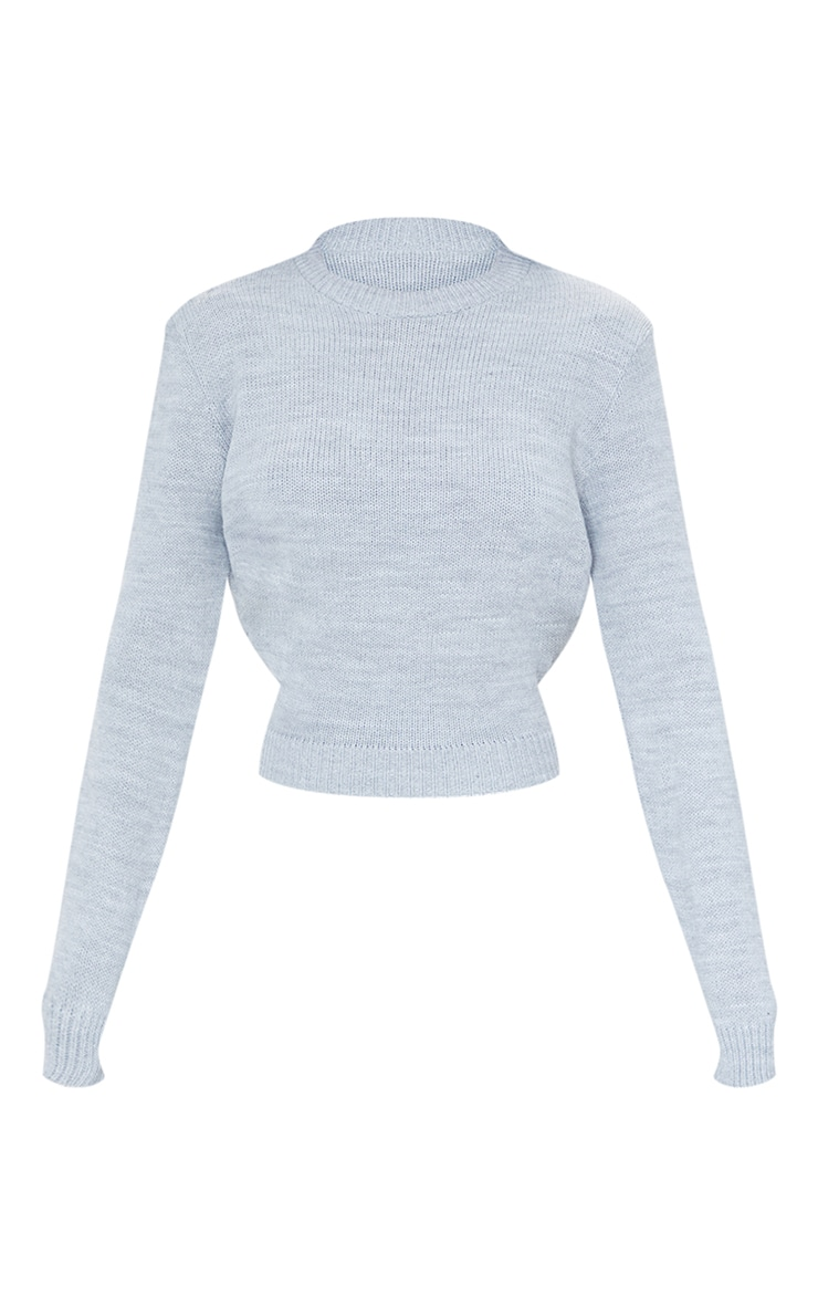 Grey Tie Back Knitted Jumper 5