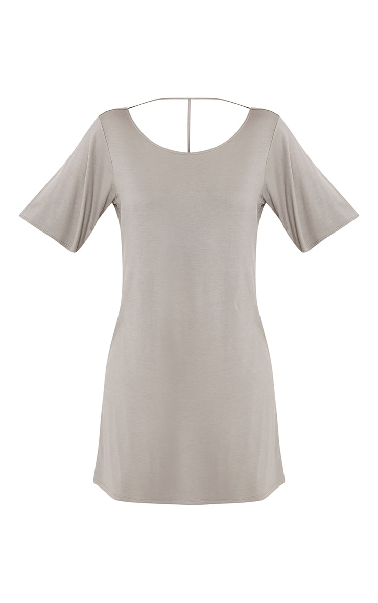 Siar Light Khaki Jersey T Bar T Shirt Dress 3