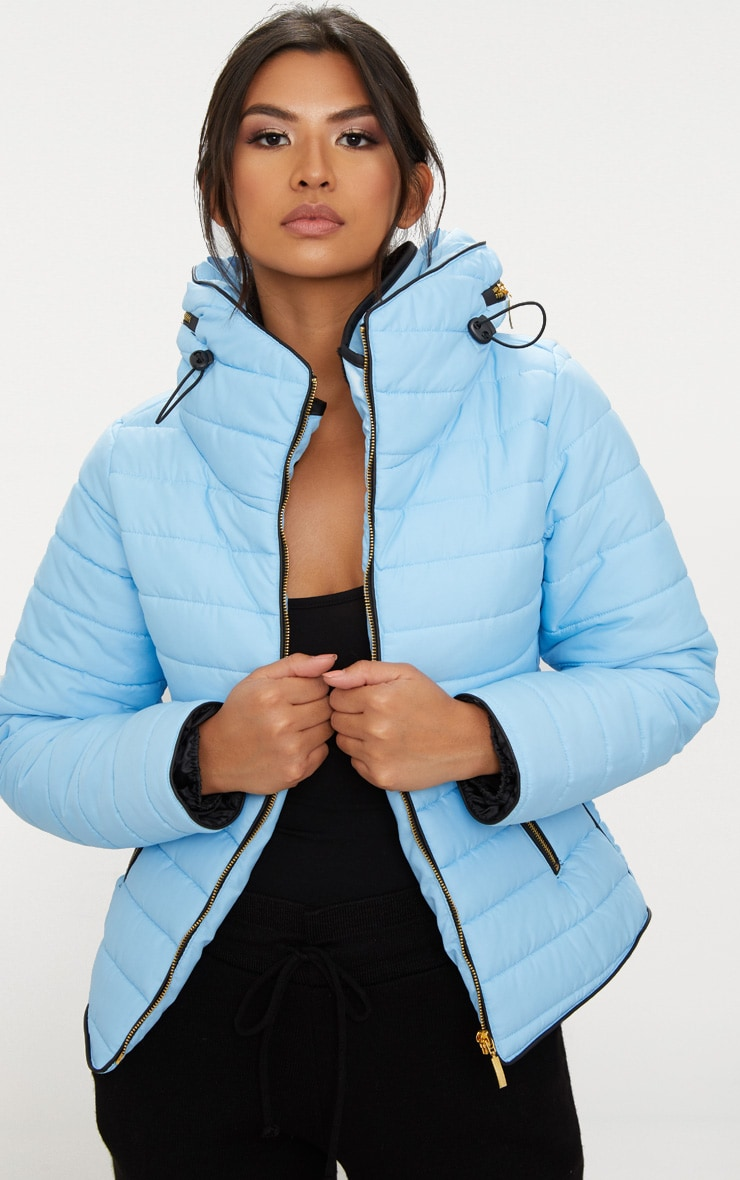 Mara Baby Blue Puffer Jacket 1