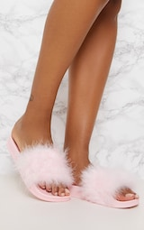 Pink Feather Slides 1