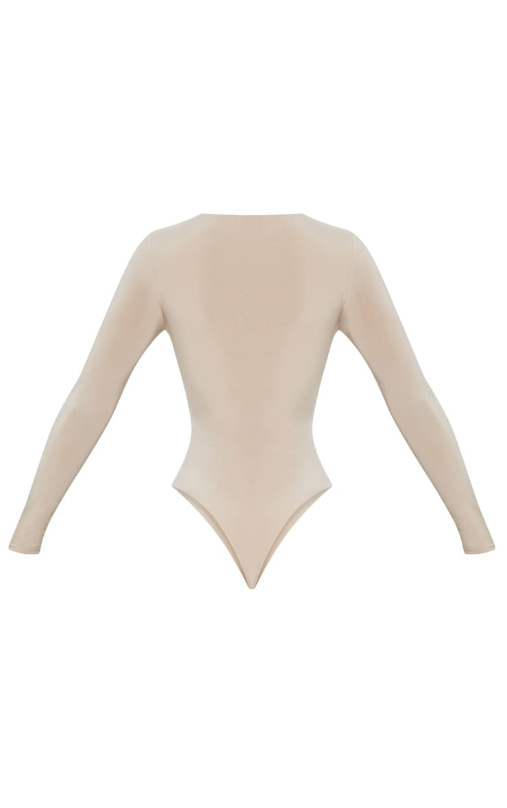 Stone Second Skin Long Sleeve Thong Bodysuit 4