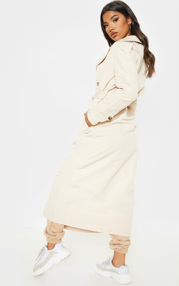 Stone Oversized Trench Coat 2