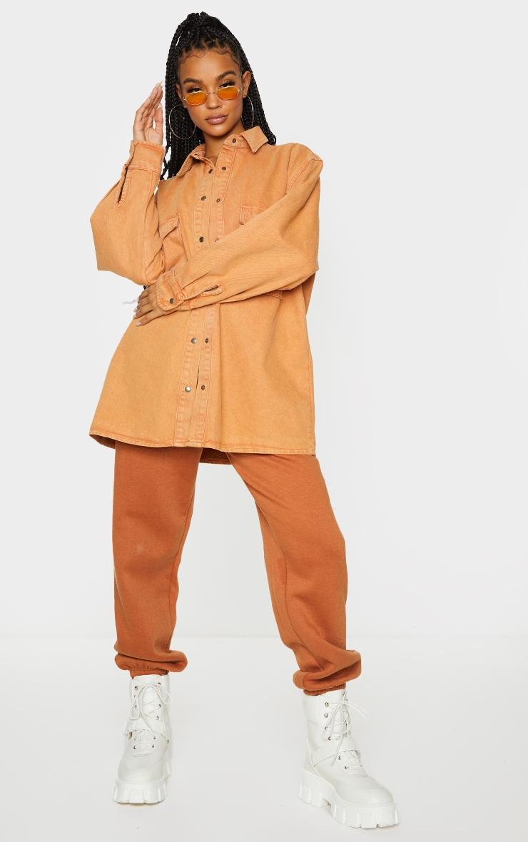 Rust Oversize Denim Boyfriend Shirt 1
