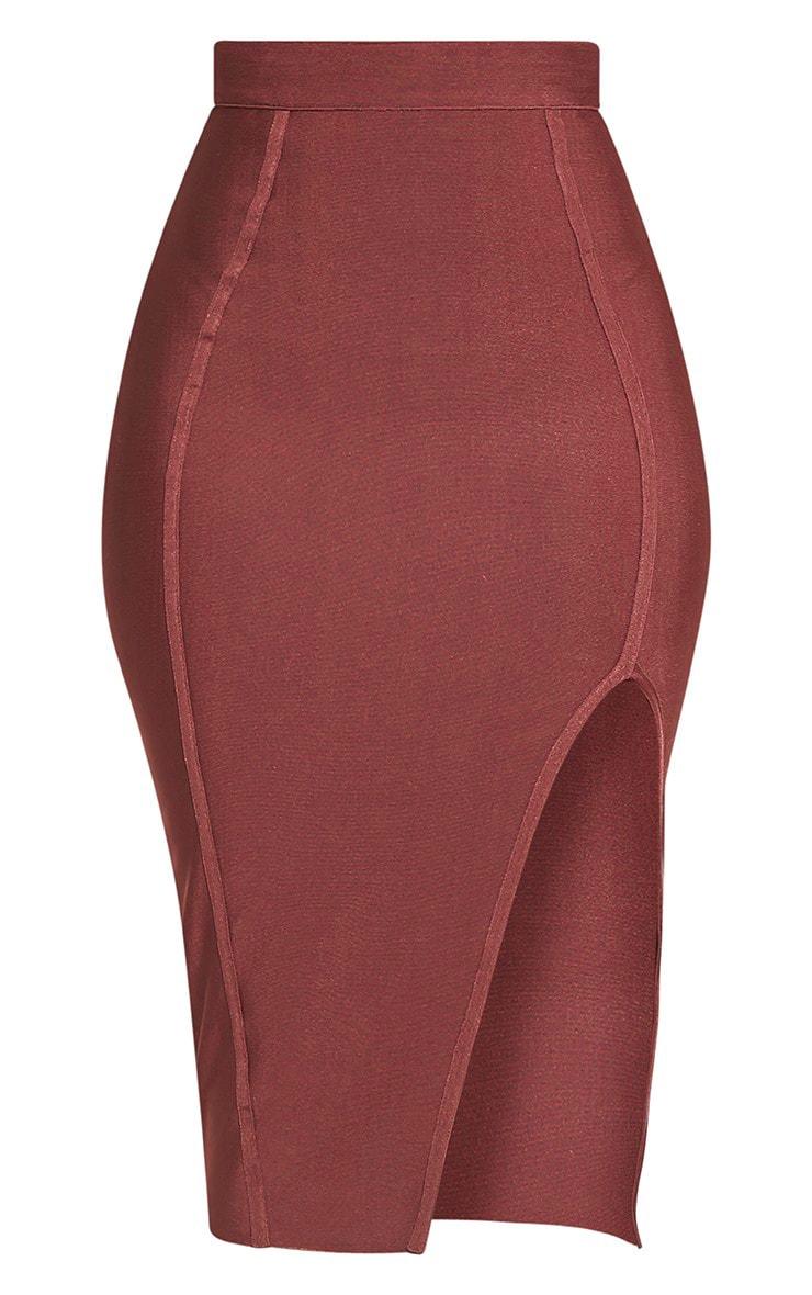 Caitlyn Premium jupe midi bandage rose 3