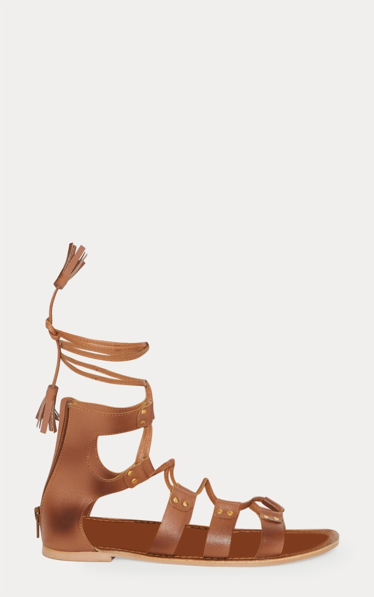Tan Leather Ghillie Sandal 3