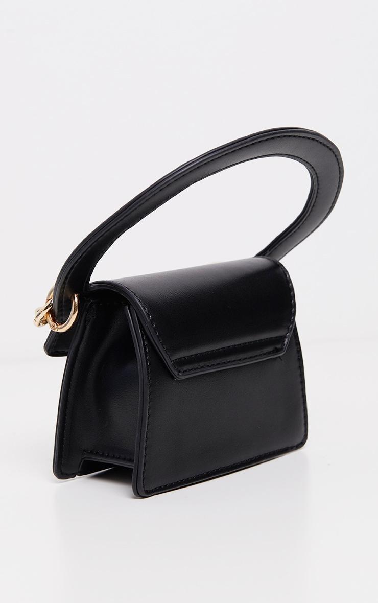 Mini-sac noir à détail chaîne 3