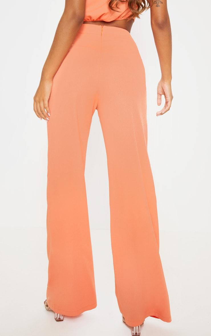 Peach High Waisted Wide Leg Trouser 4