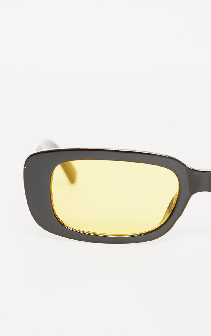 Black Chunky Colour Lens Square Frame Sunglasses 3
