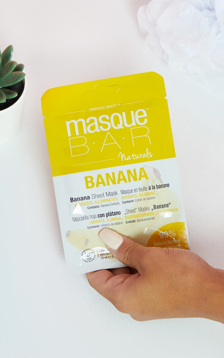 MasqueBAR Naturals Banana Sheet Mask 1
