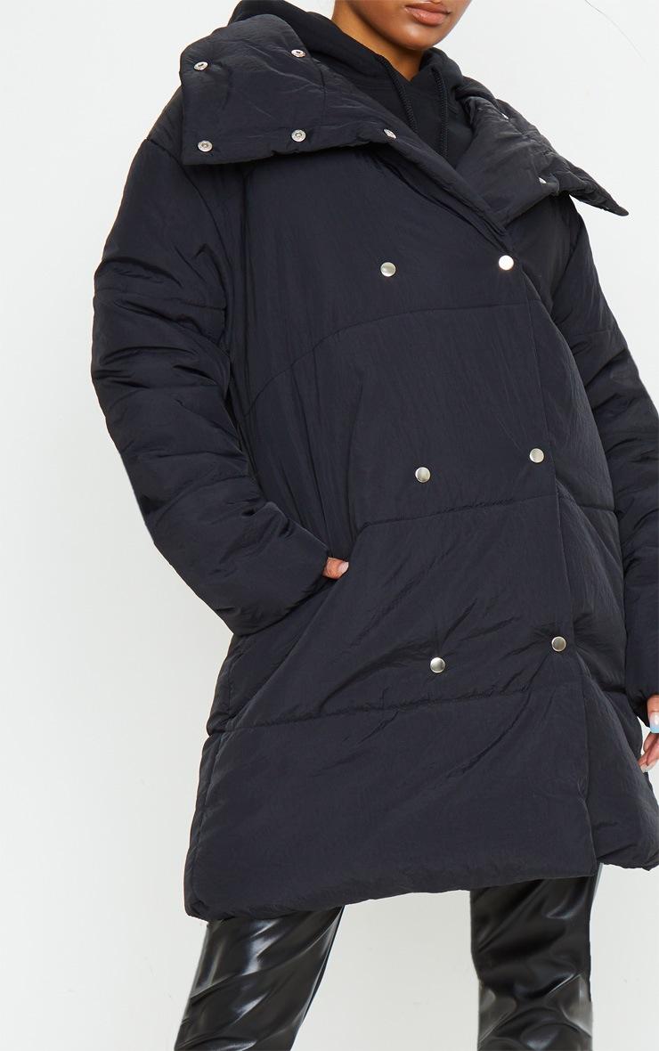 Black Midi Wrap Puffer 4