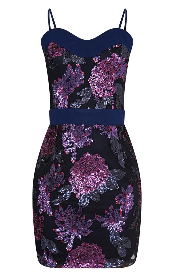 Purple glitter bodycon dress