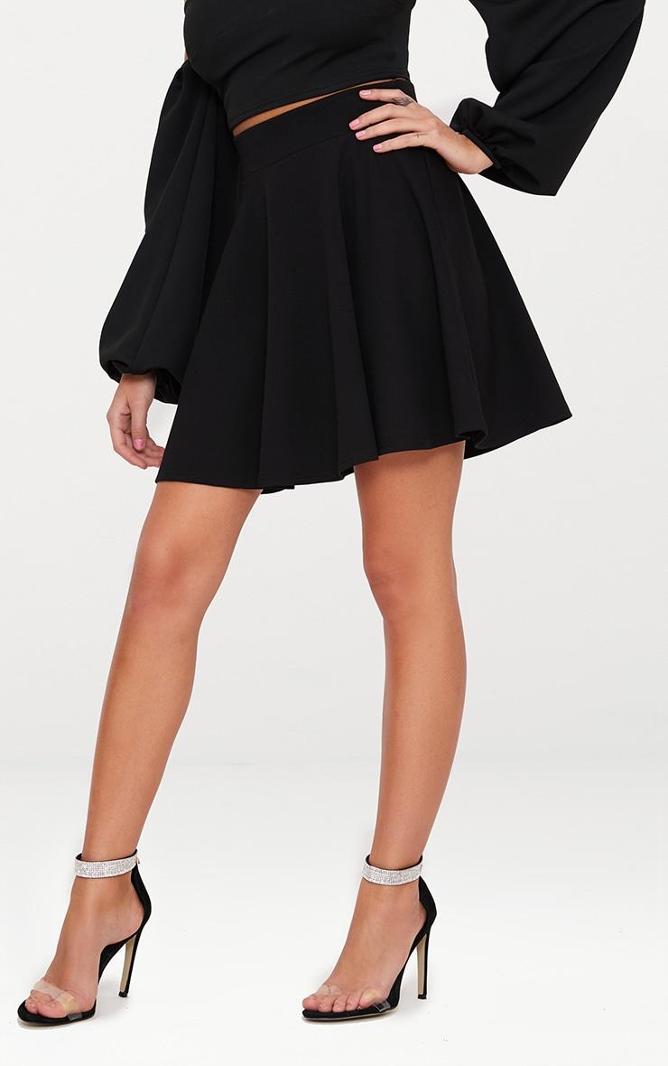 Black Skater Mini Skirt 2