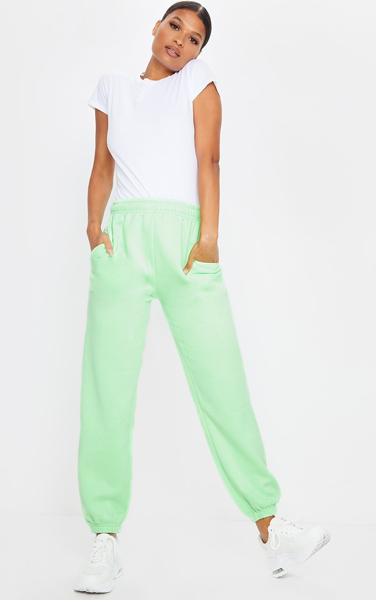 Apple Green Casual Joggers 1