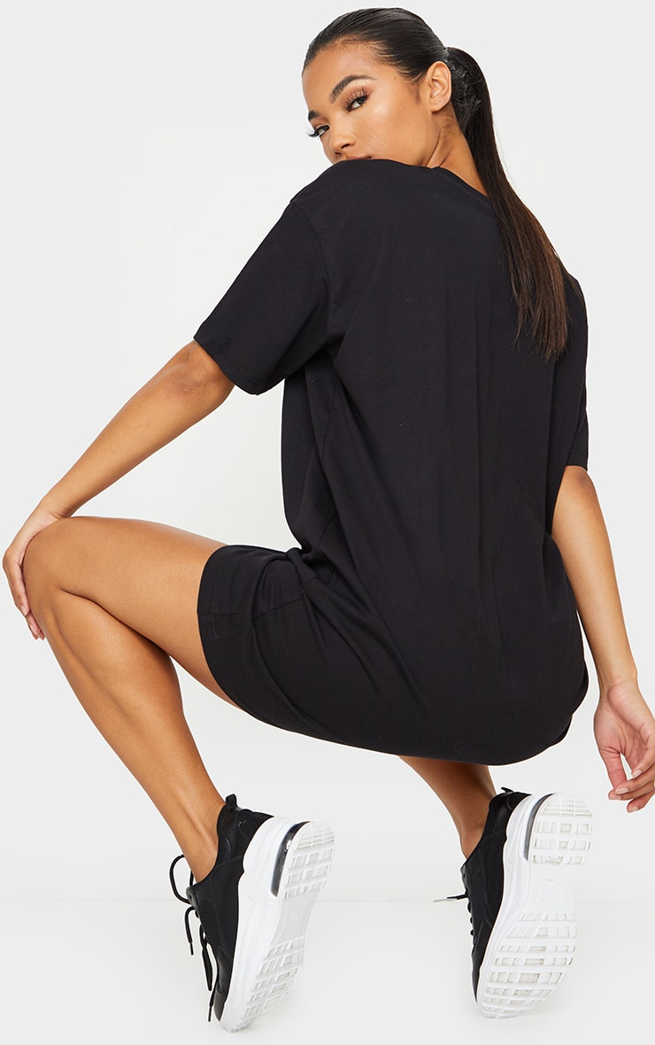Black Cali Slogan T Shirt Dress 2