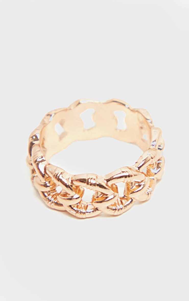 Gold Chain Link Ring 2