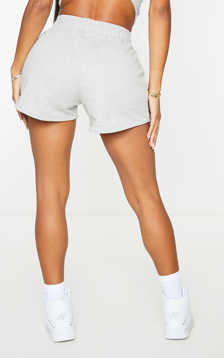 PRETTYLITTLETHING Shape Grey Badge Sweat Shorts 3