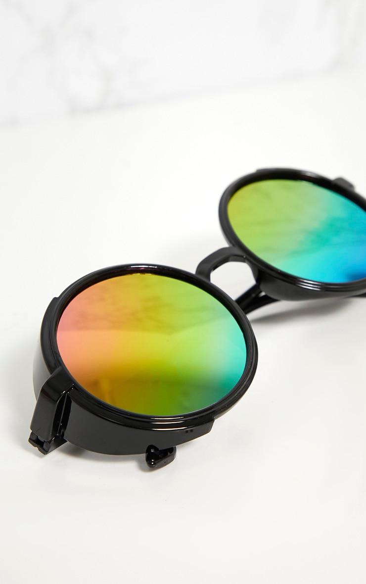 Multi Colour Lens Round Retro Goggle Sunglasses 4