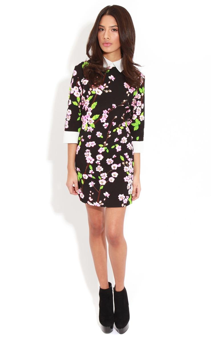 Alanah Orchid Print Collar Dress 3