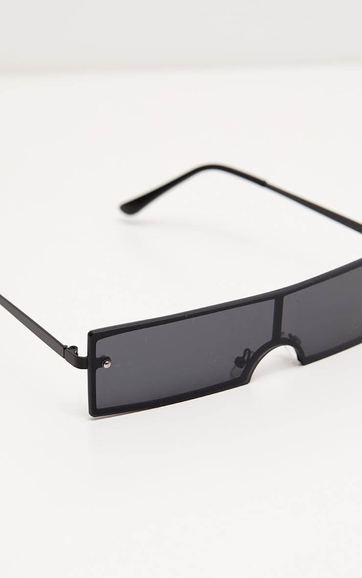 Black Rectangular Sunglasses 4