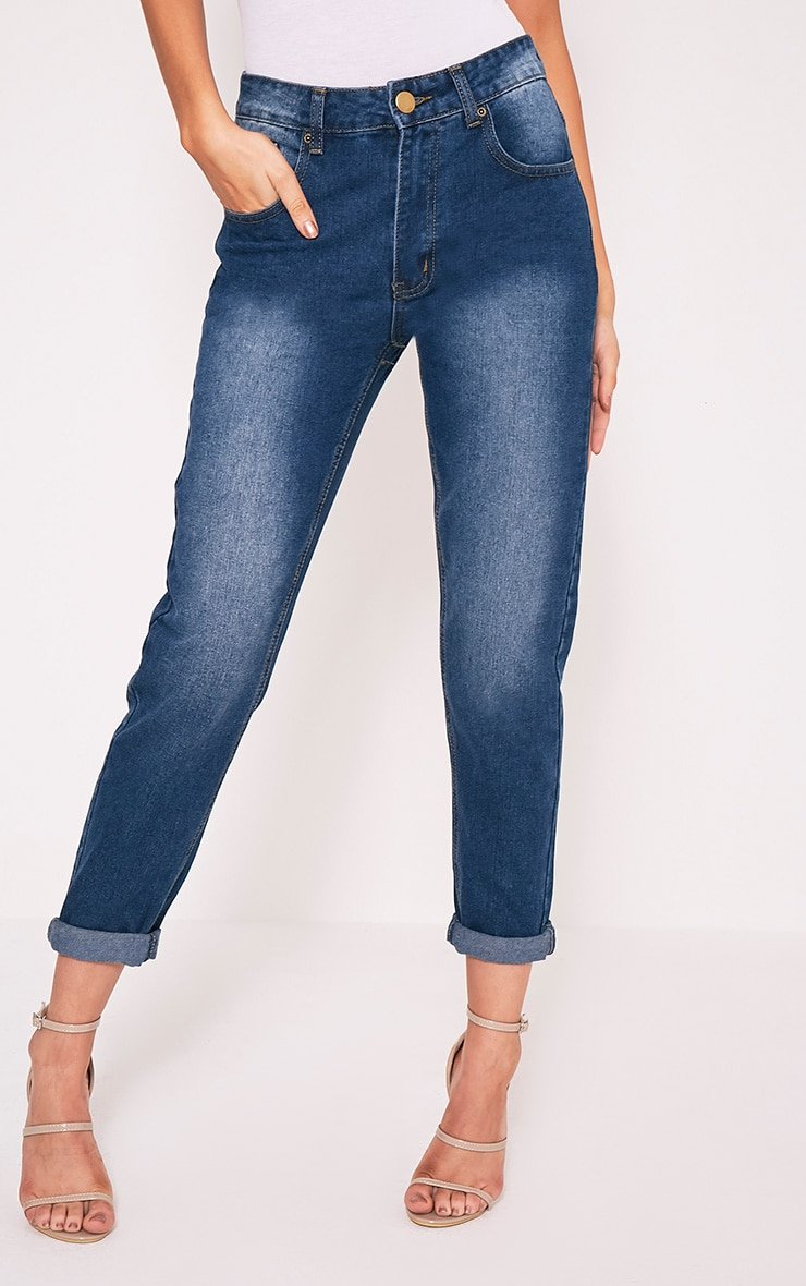 Rebel Dark Wash Boyfriend Jean 1