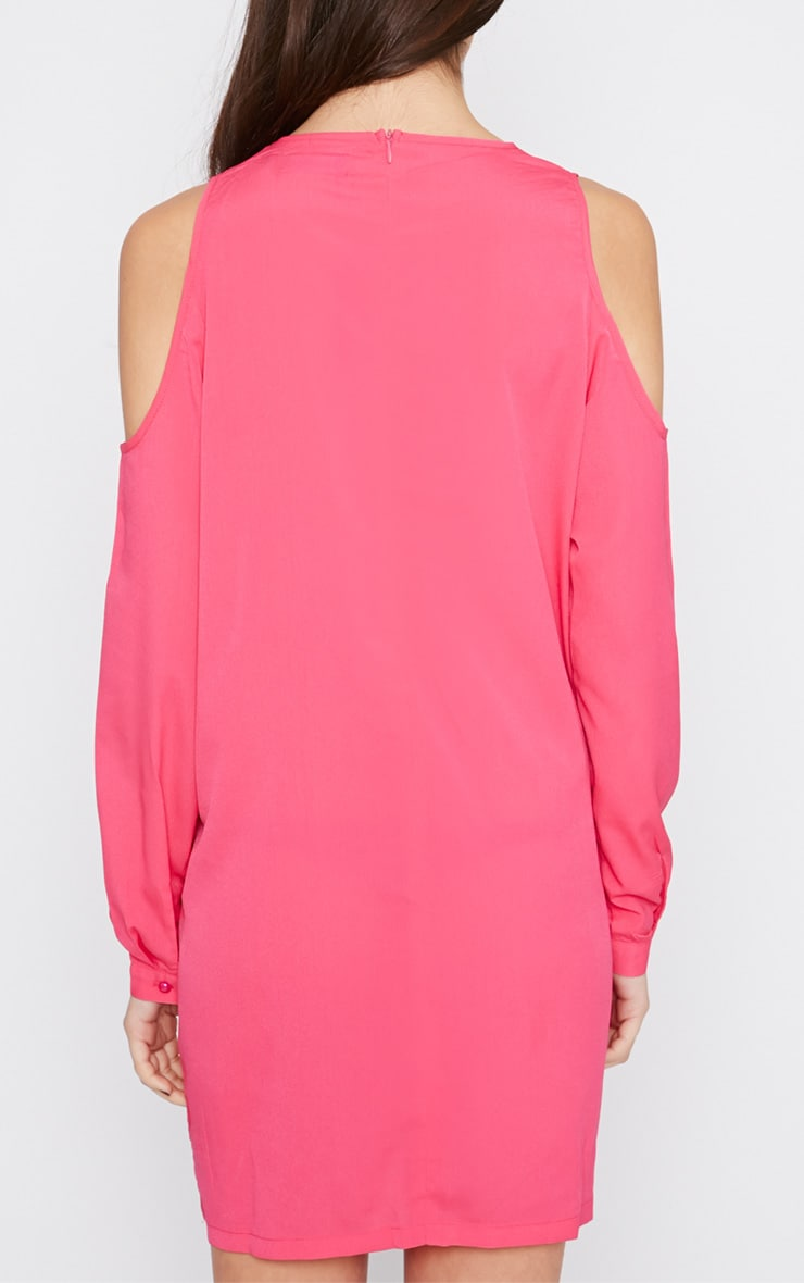 Genny Pink Cut Out Shoulder Dress 2