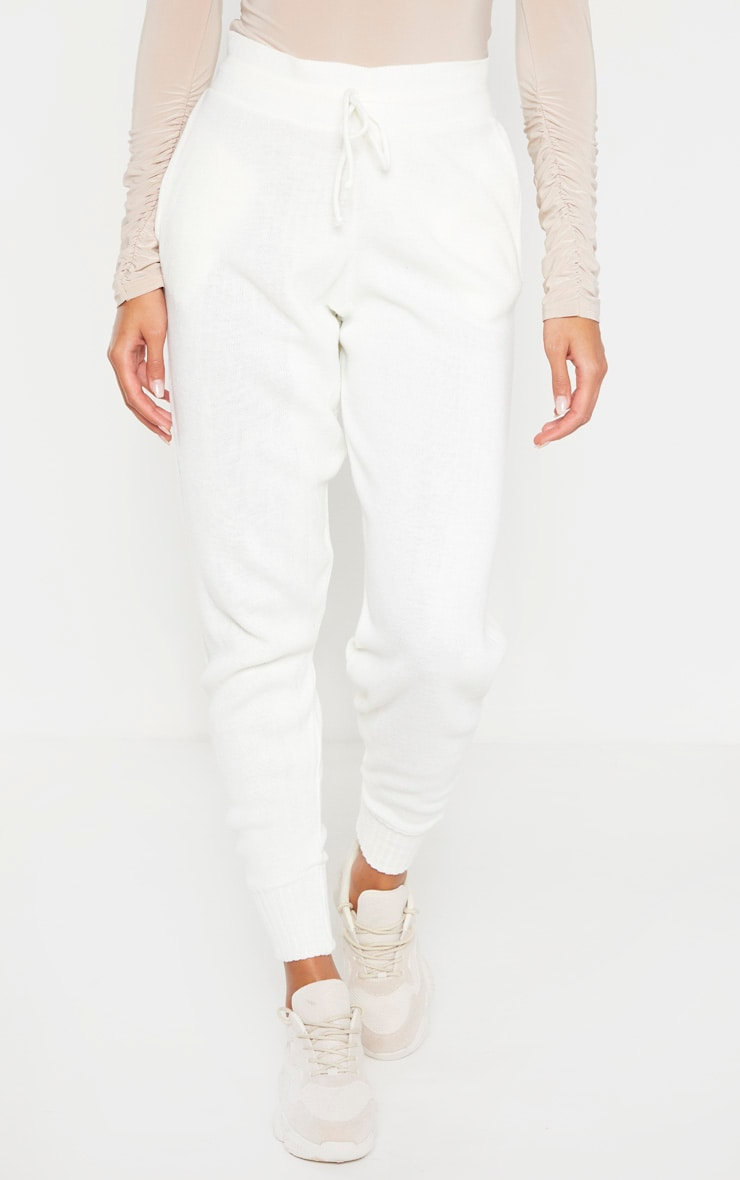 Ivory Knitted Jogger 2