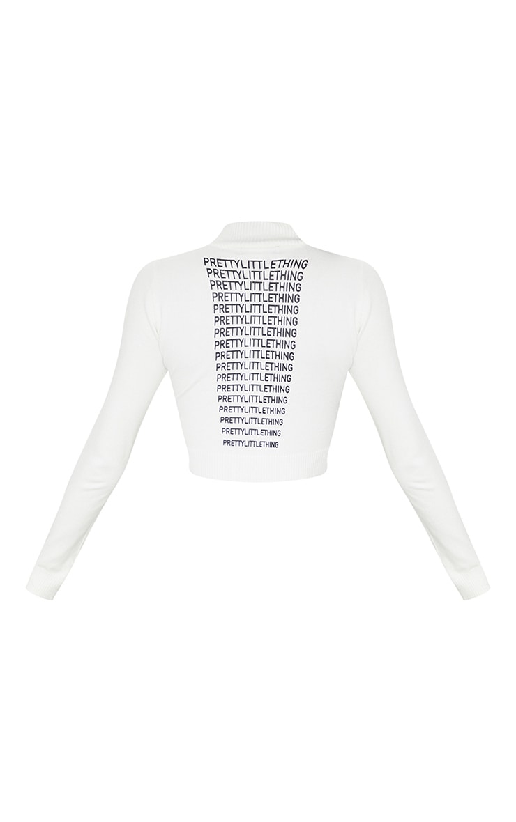 PRETTYLITTLETHING White Back Cropped Knitted Top 6