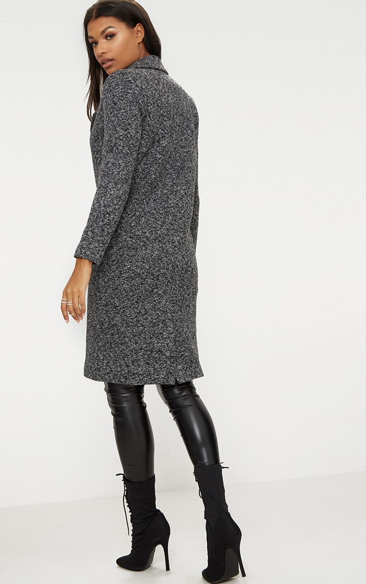 Grey Longline Wool Coat 2