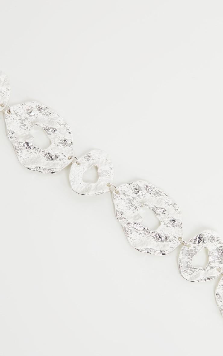Silver Irregular Shape Necklace 2
