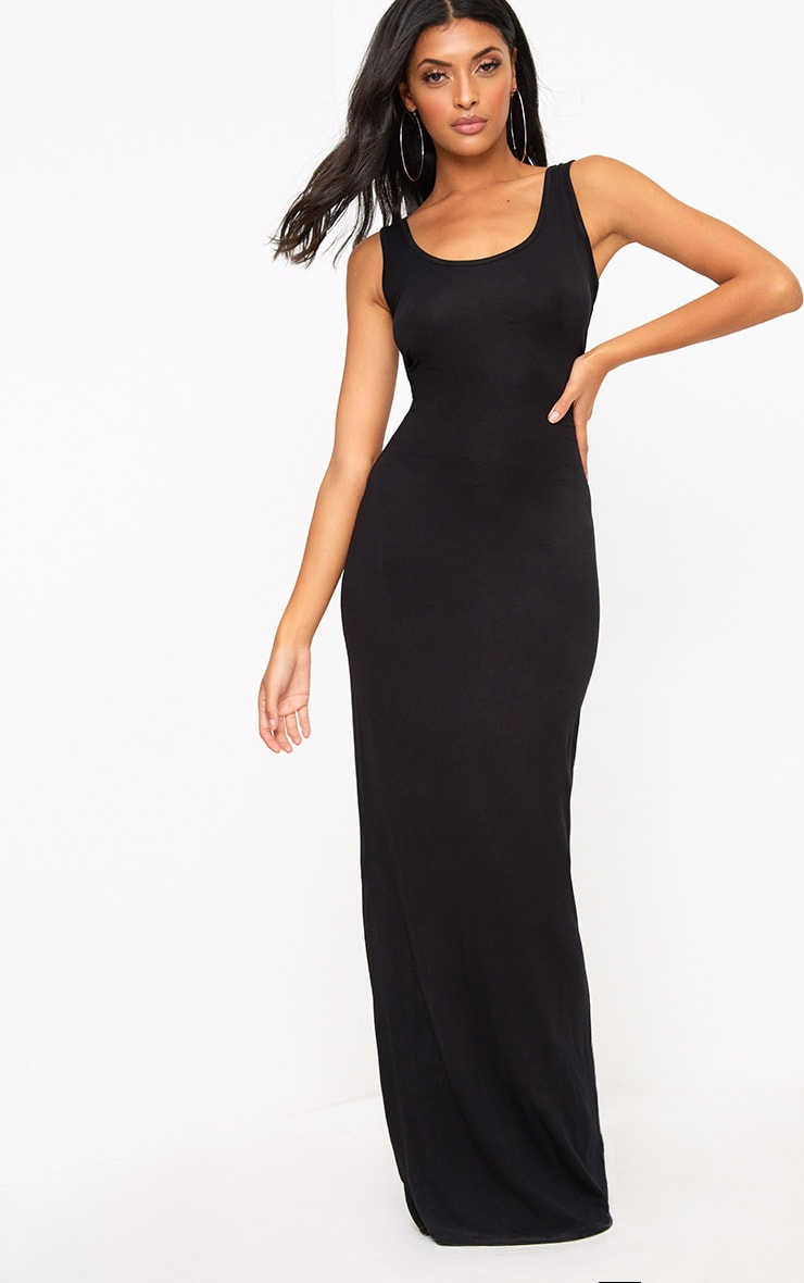 Basic robe maxi noire 1