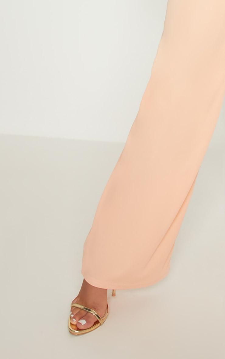 Peach Bandage Rib Wide Leg Trouser 5