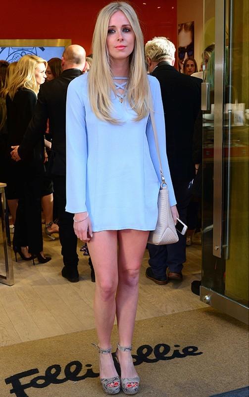 Liz Khaki Cross Front Crepe Loose Fit Swing Dress 2