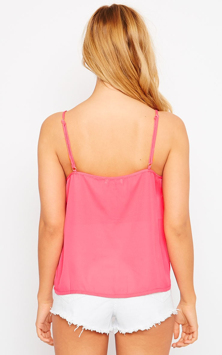 Mara Pink Button Up Cami 2