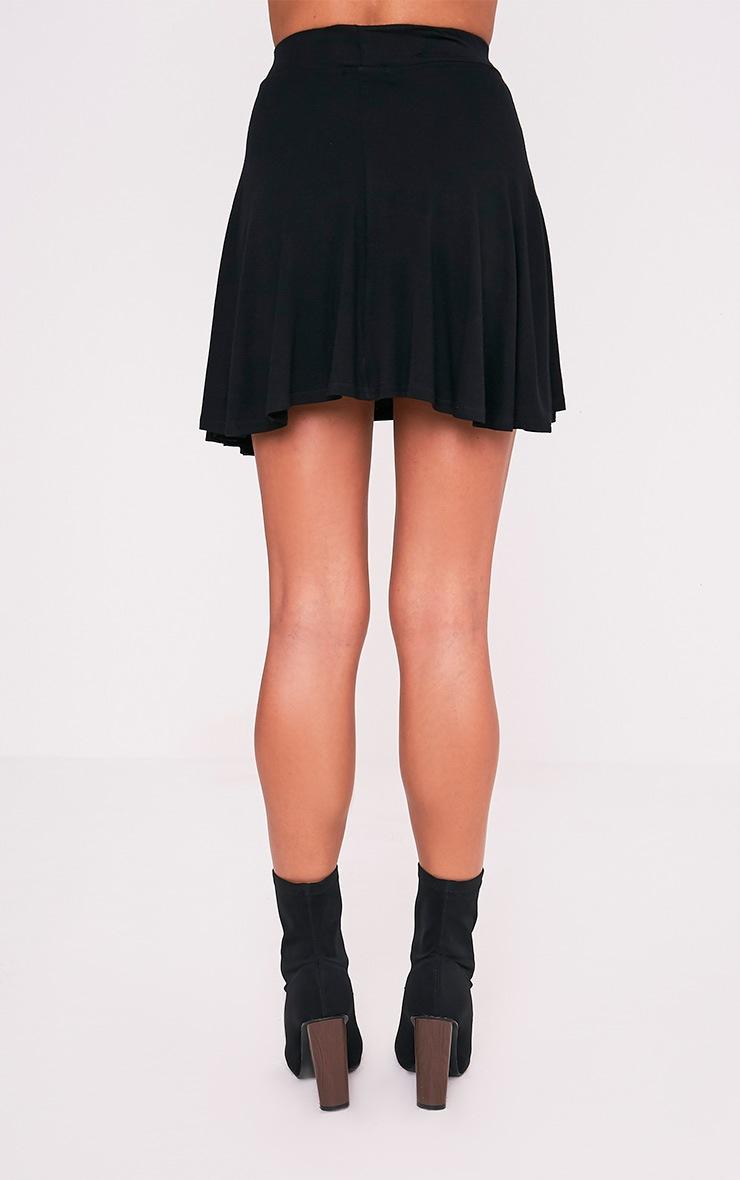 Basic jupe patineuse noire 4