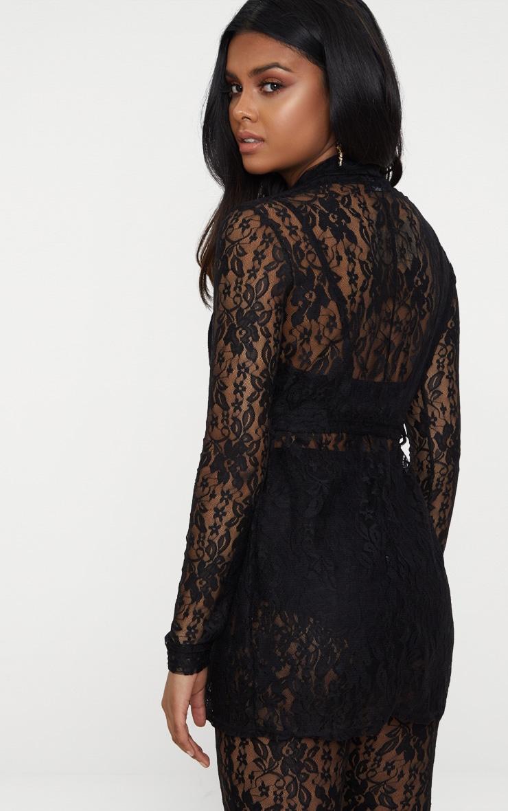 Petite Black Lace Blazer 2