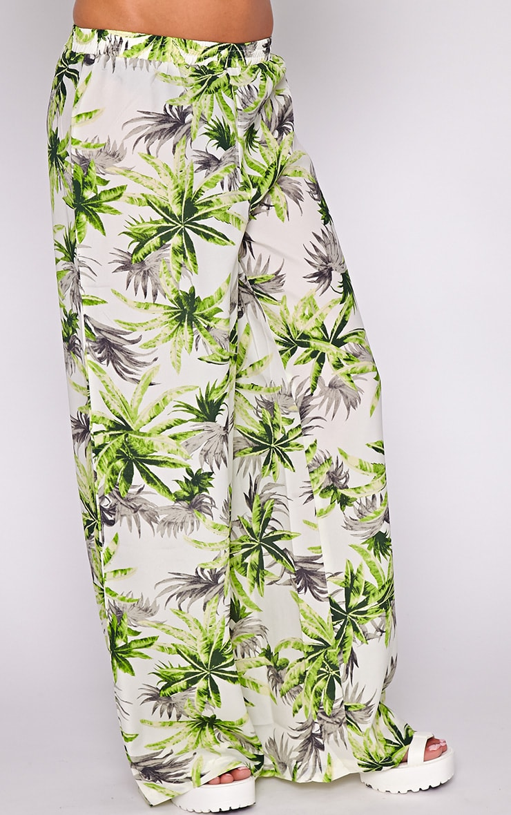 Jocelyn Green Leaf Print Trouser -L 3