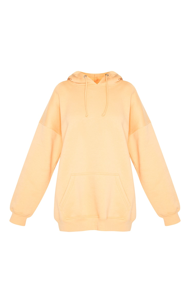 Peach Oversized Pocket Front Drawstring Hoodie 5