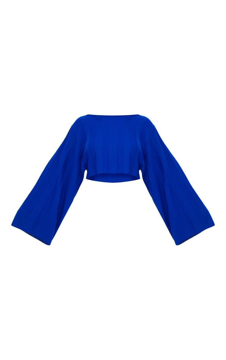Cobalt Wide Sleeve Stripe Jumper 3