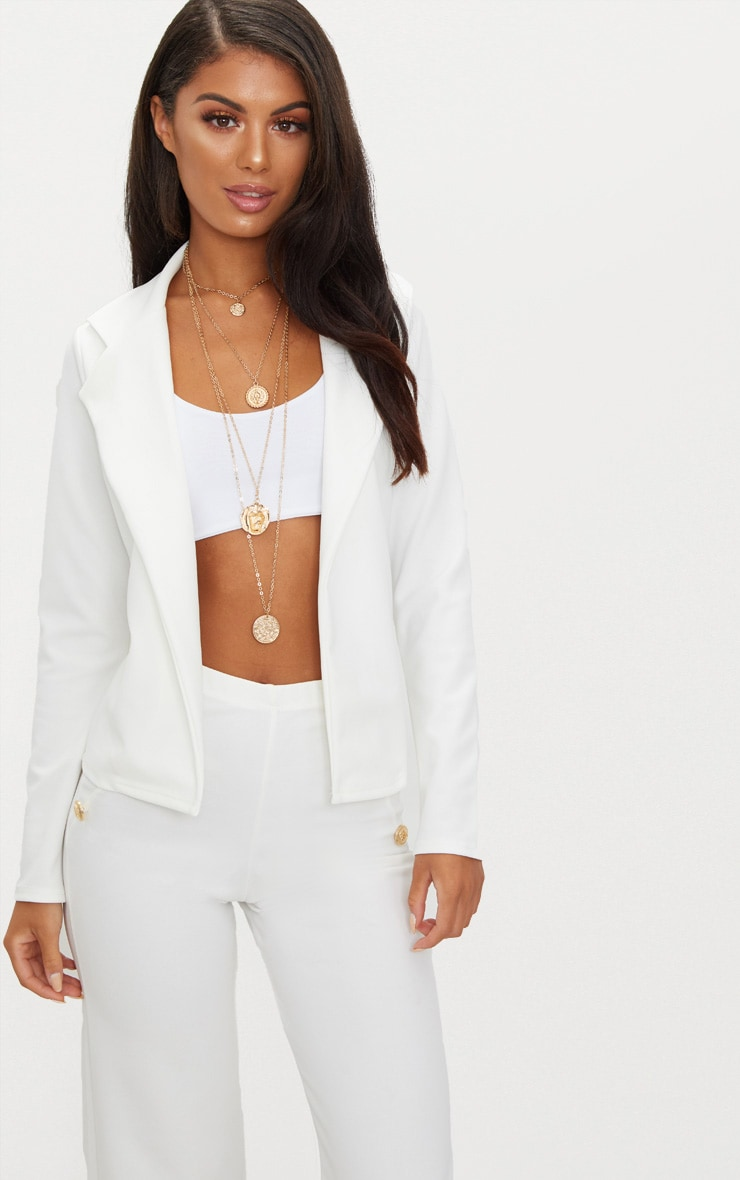 Cream Crop Blazer 1