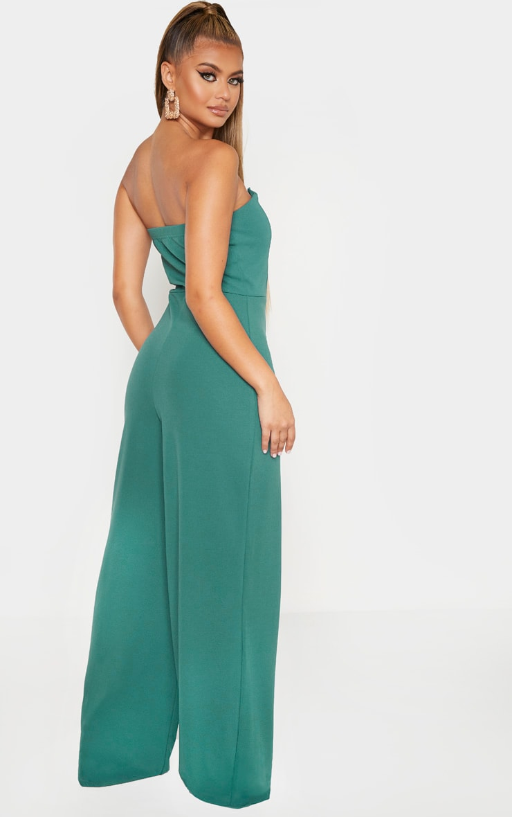 Jasper Green V Bar Wide Leg Jumpsuit 2