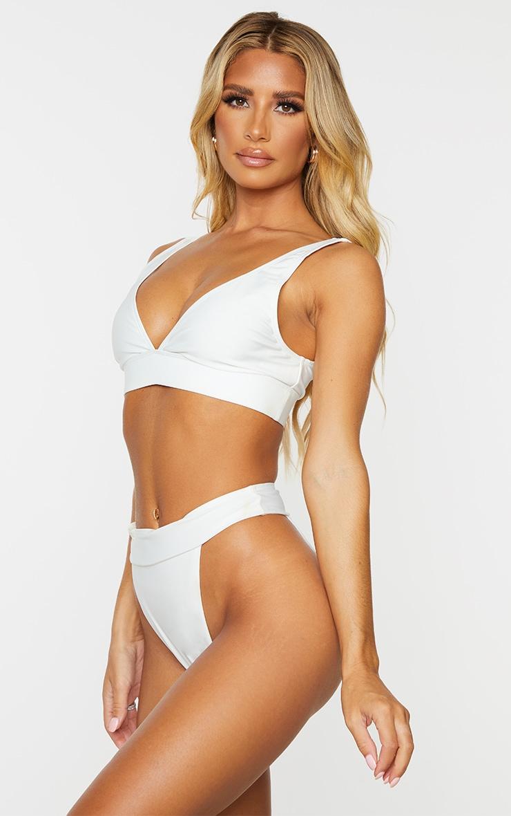 PLT Recycle - Bas de maillot de bain Mix & Match échancré blanc 2