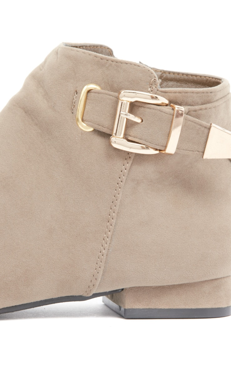 Layla Beige Suede Ankle Boots 4