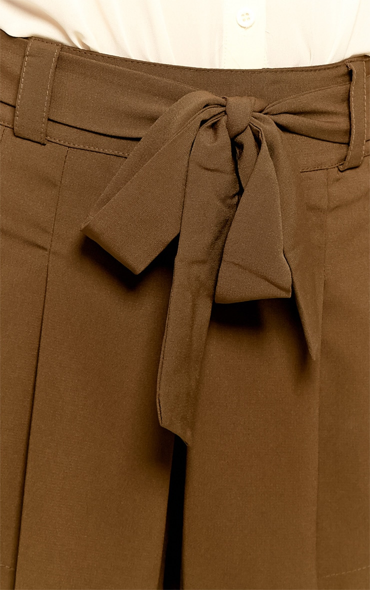 Montana Brown Pleated Shorts -M 4