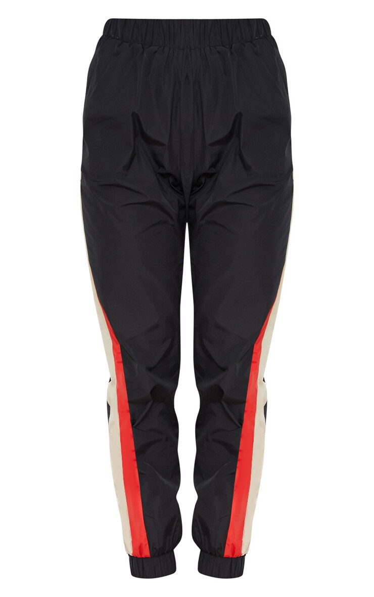 Black Stripe Shell Tracksuit Track Pants 3